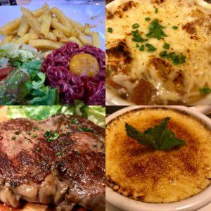 Der Mann mit dem Hammer hat viele Gesichter. Zum Beispiel Steak Tartare, Soup d'Oignon, Entrecôte und Crème Brûlée.