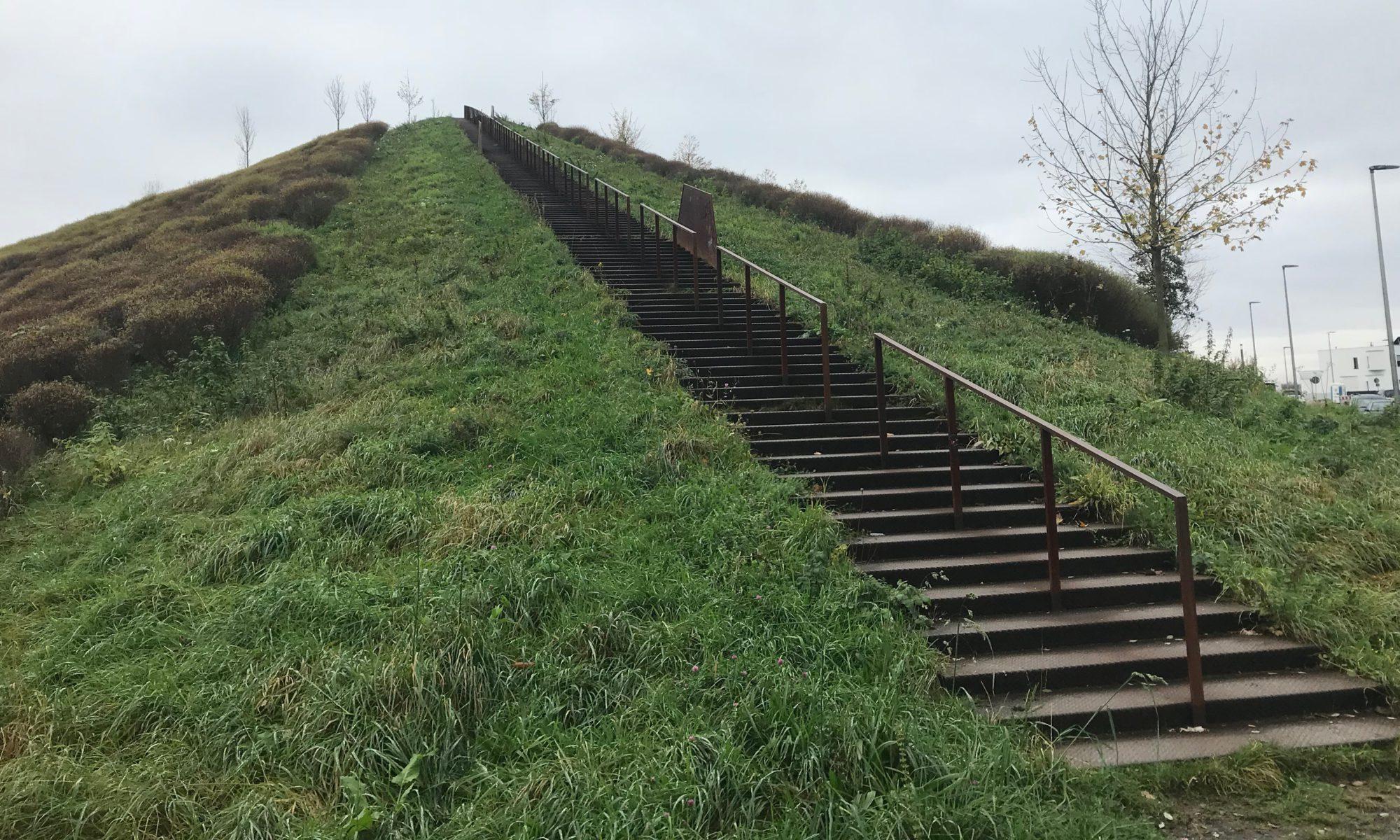 Der Hügel am Phoenixsee bietet reichlich Möglichkeiten zum Bergauflauf.