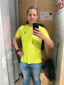Am Tag vor dem Marathon habe ich noch schnell ein Laufshirt gekauft.